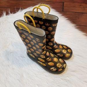 Emoji rain boots